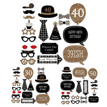 Buy 30th 40th 50th photobooth Happy Birthday Party Supplies Photo Booth Props 30 40 50 Years Man Woman Thirty Birthday Decoration for $1.49 in AliExpress store
