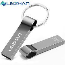 LEIZHAN Waterproof USB Flash Drive 64G Silver U Stick 32G Pendrive 16G Logo Customized U Disk 8G Memory Disk 4G Memoria U Disk