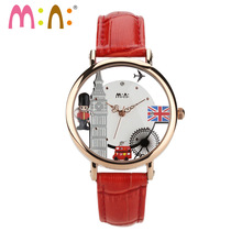 M:N: Handmade POLYMER CLAY mini watch ladies Women's watches Hollow design Children clock girl wristwatch relogio feminino Army