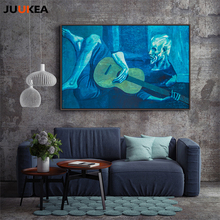 Classic Artist Canvas Painting Old Man Played Guitar Art, Canvas Print Painting Poster Large Size High Quality Wall Pictures(China)
