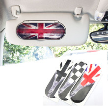 1pc Union Jack Style Car Sun Visor Makeup Mirror Back Stickers Decals Decoration For Mini Cooper F55 F56 Car Styling Accessories(China)