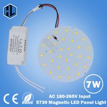 free shipping 10W 15W 18W 21W 25W 35W 45W ,AC180 -265V round Magnetic LED Ceiling Light LED Board Panel Circular Tube Lights(China)