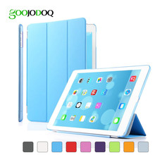 Magnetic PU Leather Slim Smart Case For Ipad Air 2 /Air 1 Ipad 5 6 Ultra Thin Fold Cover Skin PC Shell for Ipad Mini 1 2 3 A1112