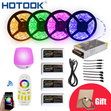 HOTOOK WIFI 12V Flexible LED Strip 5050 300LED 5M/RollRGBW RGB IP65 Waterproof 20M LED String Dimmable Ribbon LED Rope Tape Kit(China)