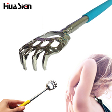1pcs Practical Handy Stainless Pen Clip Back Scratcher Telescopic Pocket Scratching Massage Kit back scratcher Color Random(China)
