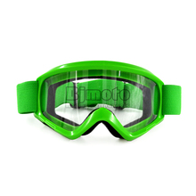 MG-015-GR Green Adult Motorcycle Protective Gears Clear Lens  Flexible Cross Country  helmet Motocross Goggles Glasses MX