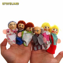UTOYSLAND 6PCS/Set Family Finger Puppets Storytelling Doll Kids Children Baby Educational Toys