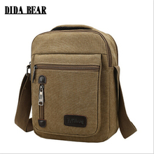 DIDA BEAR 2017 Men Crossbody Bags Canvas Shoulder Bags Messenger Bags Handbags for Travel casual High quality(China)