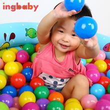 10pcs Ocean Ball New Diameter 5.5cm Thick Green Plastic Sea Ball Safety Multi-color Toy Ball Ocean Ball Pool Toy WJ811 ingbaby