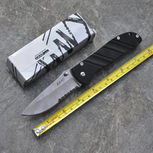 partially Serrated Blade Folding Knife Half Saw Survival Pocket Knife Outdoor Camping Tactical Hunting Knives