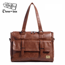 Fashion Vintage Brand Men Women Handbag Large Capacity Men's Work Casual Document Mailbag Male Travel Shoulder Laptop Schoolbag