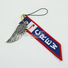 British Airline   Luggage bag Tag with Metal Wing  Red & Blue Gift for Aviation Lover Flight Crew