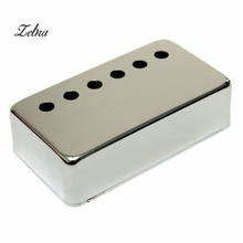 Silver Chrome Metal Humbucker Pickup Bridge Cover For Electric Guitar Pickups Housing Cover Guitar Parts & Accessories(China)