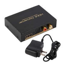 HDMI Audio Extractor Splitter to SPDIF RCA Stereo L/R Analog Output ConverterSplitter Adapter with Power Adaptor US Plug