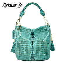 2016 New European and American fashion Graceful Crocodile Grain Women's 100% Genuine Leather Cross Body handbags XT15