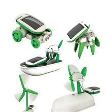 Toys & Hobbies Accessories Miniaturas De Carros Gadgets New 6 In 1 Solar Power Diy Educational Kit Kids Toy Boat Fan Car Robot