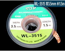 High Quality WL-3515 1.5M 3.5mm Thickness Welding Wires Practical Desoldering Braid Solder Remover Wick