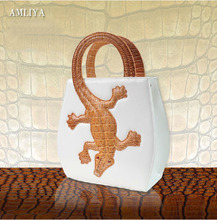 Famous Brand Crocodile Bag Women Fashion Imported PU Leather Small Handbag Creative Chic Alligator Printing Desginer Hand Bag