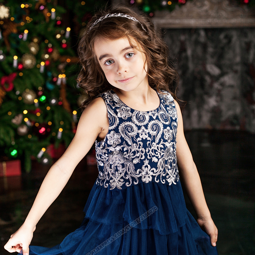 Kids Dresses For Girls 2017 Embroidered Girls Summer Dress For Party Wedding Princess Clothes<br><br>Aliexpress