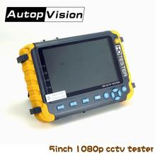 NEW 5 inch TFT LCD  HD 1080P TVI AHD CVI CVBS Analog security camera tester monitor in one cctv tester VGA HDMI input IV8S