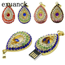 exuanck Retail Jewelry crystal Angel tears usb flash drive necklace pen drive 4gb 8gb16gb 32gb Usb flash Memory Stick
