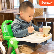 Portable baby high chair light easy carry Detachable Kids dining chair table Children feeding table booster chair seat 0-4 years(China)