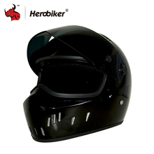 HEROBIKER Motorcycle Motorbike Carting Racing Helmet Glass Fiber Reinforced Plastic Material Motorcycle Helmet ATV-2(China)