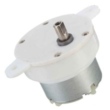 High Torque 3 RPM Cylinder Electric Micro Motor Gearbox Slow Down Mute DC 12V(China)