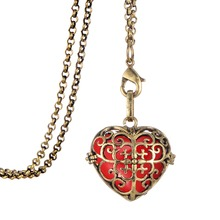 My Shape women perfume love locket heart jewelry essential oil diffuser necklace charms flowers