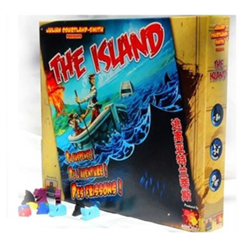 Survive: Escape from Atlantis! Board Game 2-4 Players to Play Family/Party/ Friends Funny Survive Cards Game <br>
