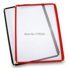 Advertising photo Album 10pcs Standard 1 page A4 PVC Recipe frame book Restaurant food shop menu frame file list picture albums(China)
