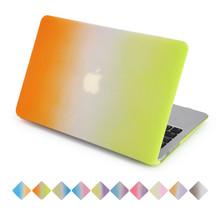for macbook air case pro 13 retina 15 cover rainbow orange gradient to green with free keyboard cover for apple mac laptop(China)