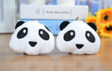40PCS Kawaii 6*5CM New Little mini Panda Plush Stuffed TOY DOLL - gift string Pendant accessory plush toys dolls