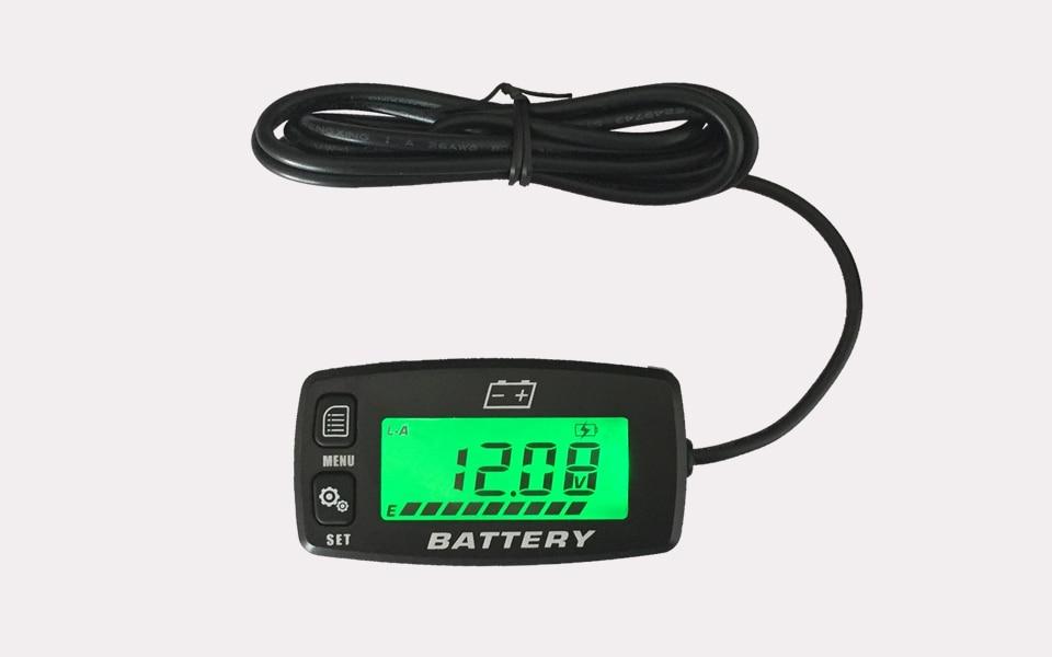 Free shipping!BACKLIGHT Lead acid storage battery GEL AGM Voltmeter battery indicator FOR Motorcycle ATV Tractor MARINE boat UTV<br>