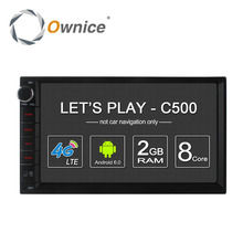Ownice c500 Android 6.0 8 Core universal car radio 2 din player GPS navi with 2GB RAM RDS Radio 4G LTE (No DVD) for Nissan VW