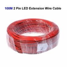 8roll 100M 22AWG 2 Pin LED Extension Wire Connector Cable Cord For SMD 3528 5050 5730 5630 Single Color LED Strip(China)