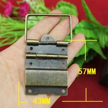 43*57MM Antique  Even hinge wire  Support hinge  Iron wooden wine box hinge  Package hinge tuba plasmodesmata  Wholesale