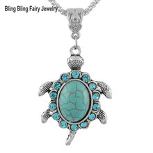 2016 Fashion Vintage National Style Stone Bohemia Tortoise Necklace,Free Shipping
