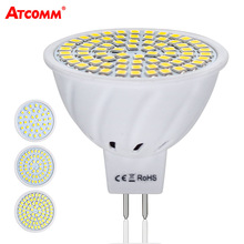 MR16 LED Diode Lamp 12V 4W 6W 8W Ampoule LED MR16 Spotlight Bulb 110V 220V 36 54 72 LEDs SMD 2835 Chip High Lumen No Flicker