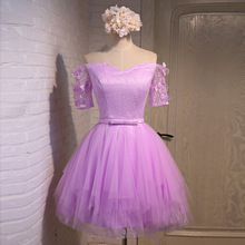 Free Shipping Elegant 2016 New Summer Sexy Knee-Length Lavender Flowers Organza Cocktail Dresses Party Dress robe de cocktail