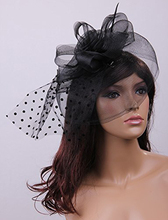 FS Hot Pink wedding 25CM black fascinator hair barrette