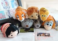 "8 styles Tsum Tsum Mini 3.5""The Jungle Book Plush doll The Jungle Book Toys Screen Cleaner animal key chain accessory kids gift"