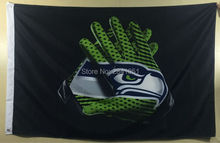 Seattle Seahawks Glove American Outdoor Indoor Baseball Football Flag 3X5 Custom USA Any Team Flag