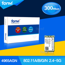 300Mbps Dual band 802.11 a/b/g/n Wifi Wlan for HP Intel Wireless-N WiFi Link 4965 AGN Mini PCI-E Card 2510p 8710p dv9000 V3600