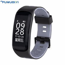 Buy FUWUDIYI F4 Smart Fitness Bracelet Heart Rate Monitor Blood Pressure Oxygen Pedometer Smart Band Sleeping Tracker Wristband IOS for $20.99 in AliExpress store