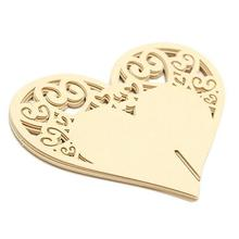 50PCS/Lot Heart Wine Glass Card For Wedding Laser Cutting Paper Name Place Card Cup Card Wedding Baby Shower Decorations