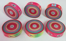 12pcs/lot  Dia.6.5cm colorful Hand Throwing Party Popper Frisbee Paper Confetti