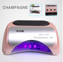 48W CCFL Nail Dryer Polish Machine UV Lamp LED Lamp Nail Lamp for Curing Nail Polish Gel Nail Art Automatic Hand Sensor(China)
