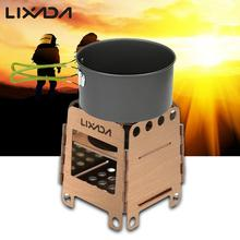 Lixada 190g Lightweight Portable Stainless Steel Pocket Folding Wood Stove Alcohol Stove Outdoor Cooking Camping with Pouch
