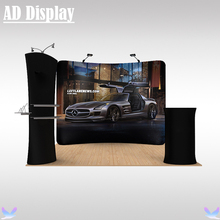 3m*3m Booth Size Portable Exhibition Banner Stand With Your Own Design Printing,Tension Fabric Advertising Tube Display Wall